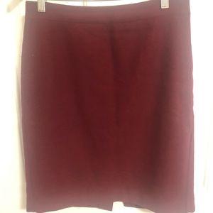 JCrew Factory sz 4 maroon wool pencil skirt